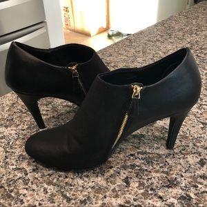 Black high heel booties, LIKE NEW